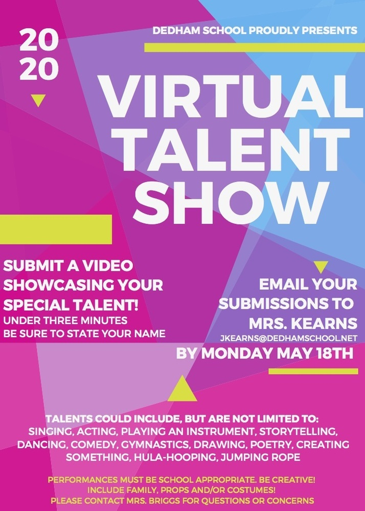Dedham School Virtual Talent Show
