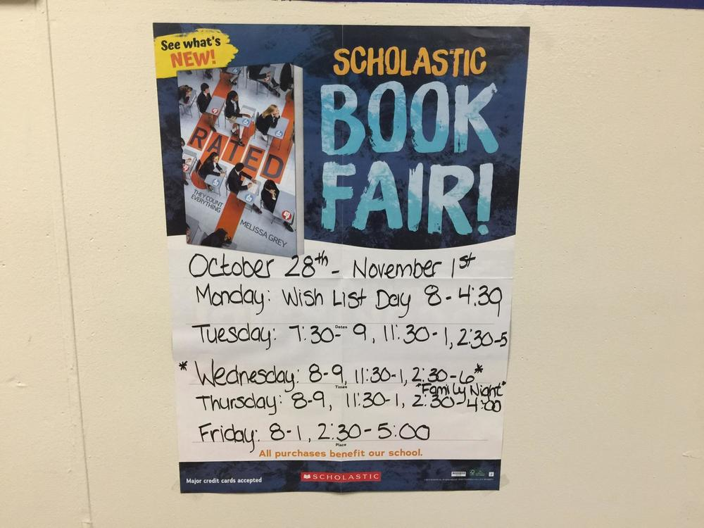 Scholastic Book Fair in Dedham Library - October 28-November 1